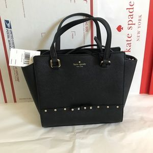 💦🏝Kate spade satchel🏝crossbody/black/leather